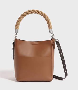 AllSaints Harri Leather Small North South Tote Bag
