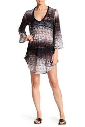 Jordan Taylor Ombre Crochet 3\u002F4 Bell Sleeve Tunic