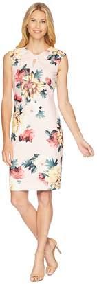 Tahari ASL Floral Flowers Sheath Dress Women's Dress