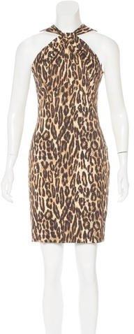 MICHAEL Michael KorsMichael Kors Collection Leopard Print Sheath Dress