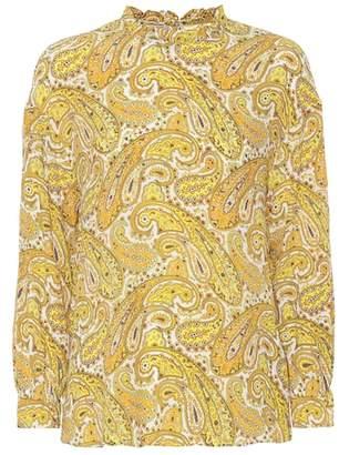 Baum und Pferdgarten Matrika printed silk-blend top