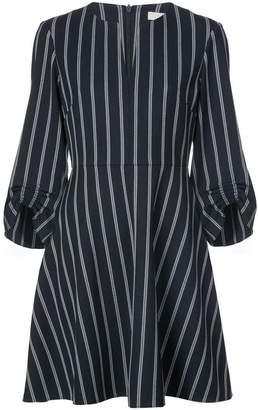 Tibi Felix stripe split neck dress