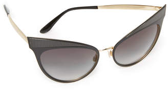 Dolce & Gabbana Grosgrain Cat Eye Sunglasses $370 thestylecure.com