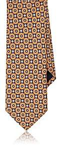 Barneys New York MEN'S CIRCLE-PRINT SILK NECKTIE-ORANGE