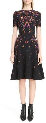 Women's Givenchy Pansy Print Stretch Cady Dress