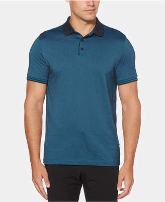 Perry Ellis Men Big & Tall Regular-Fit Stripe-Trim Polo