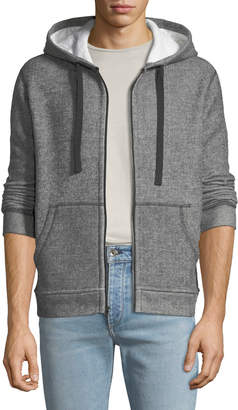 ATM Anthony Thomas Melillo Men's Melange Double-Knit Zip-Front Hoodie