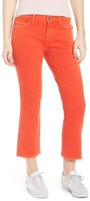 Current\u002FElliott The Kick Raw Hem Jeans (Fiery Red with Cut Hem)