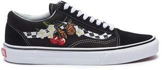 Vans 'Checker Floral Old Skool' graphic embroidered sneakers