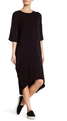 GOOD LUCK GEM Short Sleeve Knit Hi-Lo Dress