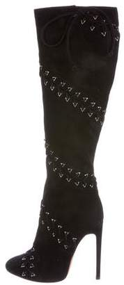 Alaia Lace-Up Knee-High Boots