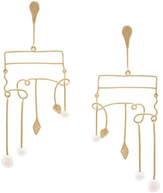 Aurelie Bidermann wired leaf earrings