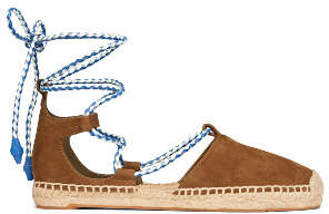 Tory Burch Positano Lace-Up Espadrilles