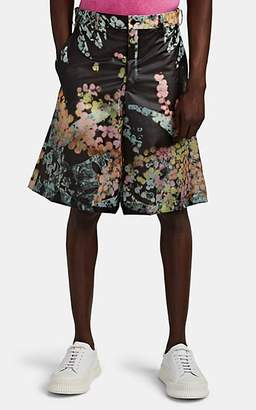 Comme des Garcons Men's Kaleidoscope-Print PVC Oversized Shorts - Black