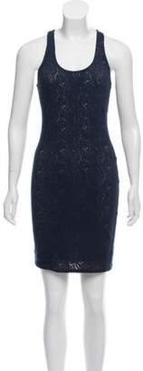 Yigal Azrouel Cut25 by Eyelet Knit Dress