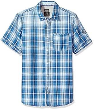 Buffalo David Bitton Men's Sagnessa Short Sleeve Plaid Button Down Shirt