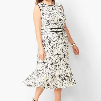 Talbots Floral Flounce-Hem Dress