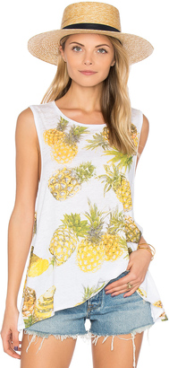Chaser Pineapples Flounce Tank $59 thestylecure.com