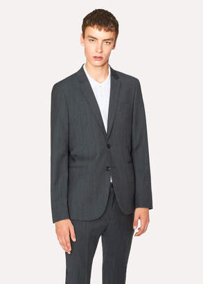 Paul Smith Men's Slim-Fit Navy Flecked-Wool Buggy-Lined Blazer