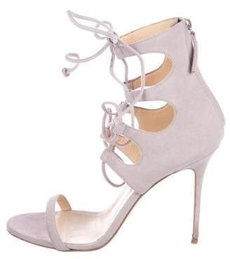 Giuseppe Zanotti Suede Lace-Up Sandals