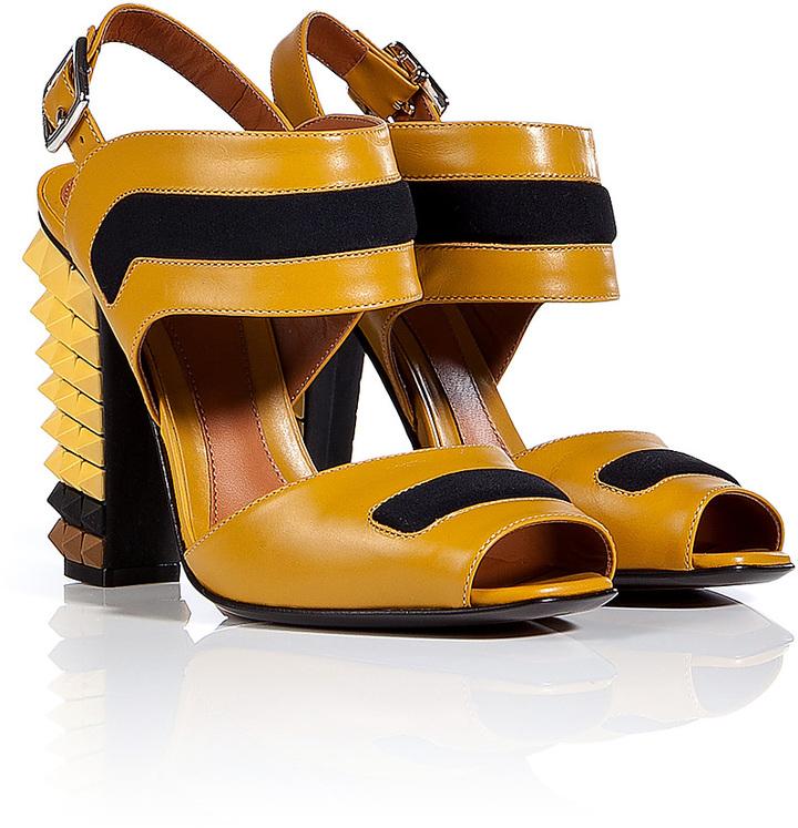Fendi Leather Polifonia Sandals