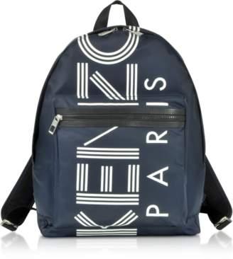 Kenzo Large Navy Blue Logo Backpack