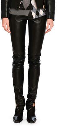 Stella McCartney Darcelle Faux-Leather Trousers, Black