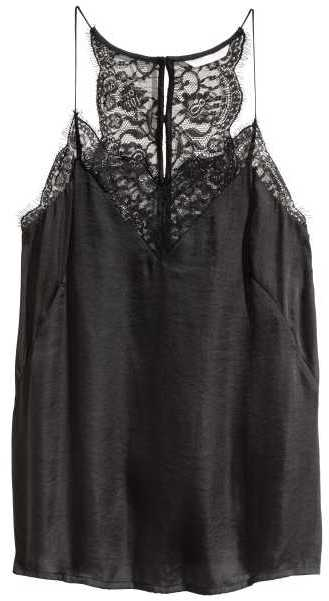 H&M V-neck Satin Camisole Top