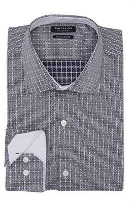 Tailorbyrd Trim Fit Textured Check Dress Shirt