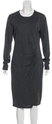 MICHAEL Michael Kors Ruched Midi Dress