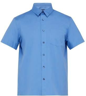 A.P.C. Cippi Short Sleeved Cotton Poplin Shirt - Mens - Blue