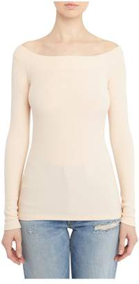 Getting Back To Square One Ribbed Off-The-Shoulder Top In Blush