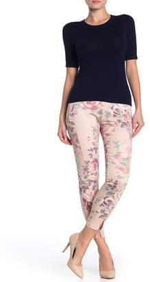 Hue Watercolor Rose Print High Waisted Leggings