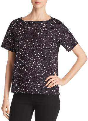 Eileen Fisher Dot Print Boatneck Top