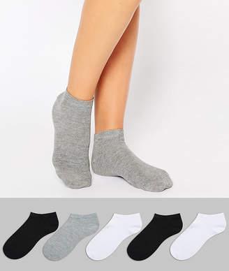 Asos DESIGN 5 pack sneaker socks