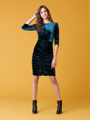 Diane von Furstenberg Bruna Velour Dress