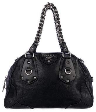 Prada Cervo Lux Bowler Bag