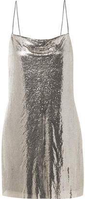 Alice + Olivia Harmony Chainmail Mini Dress - Silver