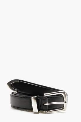 boohoo Metal Tip Fashion Belt