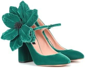 Rochas Velvet Mary Jane pumps