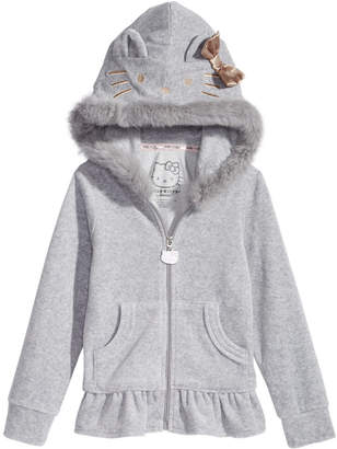 Hello Kitty Little Girls Fur-Trim Hoodie