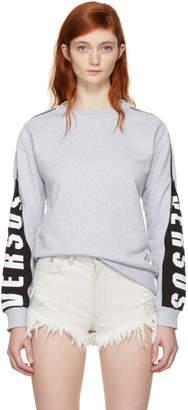 Versus Grey Mesh Zip Sweatshirt