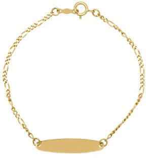 Tag Heuer FINE JEWELLERY Kids 14K Gold Oval ID Figaro Bracelet