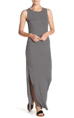 Bobeau Striped Ruched Maxi Dress (Petite)