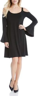 Karen Kane Cold Shoulder Bell Sleeve Dress $128 thestylecure.com