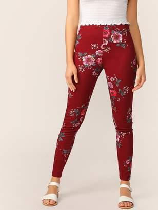 Shein Floral Print Leggings