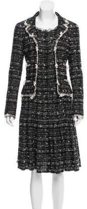 Chanel Metallic-Accented Tweed Dress