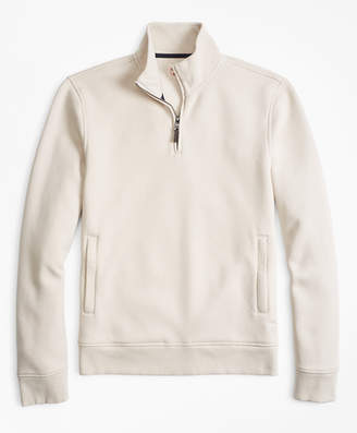 Brooks Brothers Pique Half-Zip Fleece