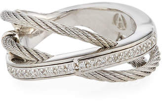 Alor Layered Triple-Band Diamond Ring, Size 6.5
