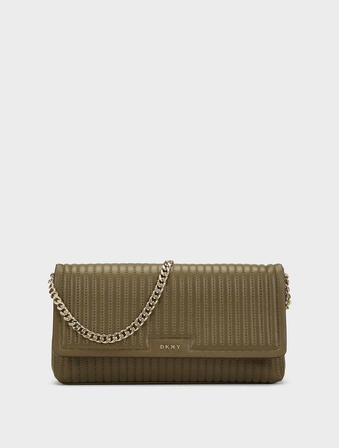 DKNYGansevoort Pinstripe Quilted Chain Shoulder Bag